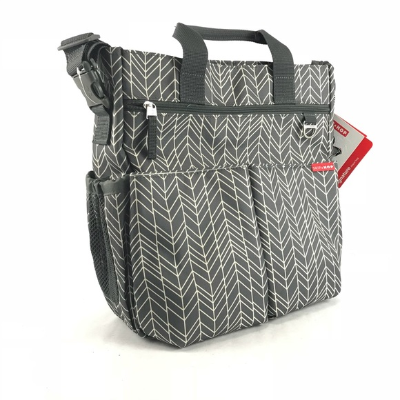 0d12eaac44d3d Skip Hop Bags | Skiphop Baby Duo Signature Diaper Bag Gray Feather ...